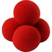 4 Bolas Goshman Normais 1,5 inch Comum Cor Vermelha M+