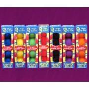 4 BOLAS DE ESPUMA GOSHMAN Super Soft  1,5  inch CORES VARIADAS.