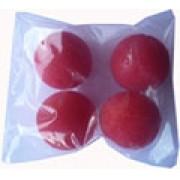 4 BOLAS DE ESPUMA  MINI  0,8 inch vermelho