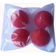 04 bolaa de espuma mini  0,8 inch vermelho b+