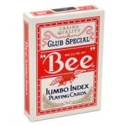 Baralho Bee Jumbo index  Vermelho b+