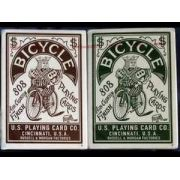 Baralho Bicycle  Autobike Verde ou Vermelho