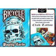 Baralho Bicycle Civil Club Tattoo Azul B+