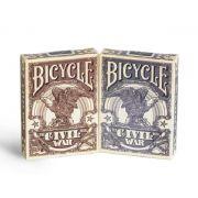 Baralho Bicycle Civil War Azul ou Vermelho M+