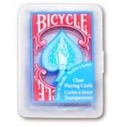 BARALHO BICYCLE CLEAR PLASTIC AZUL