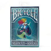Baralho Bicycle Mermaid baralho sereia  - Azul B+ up