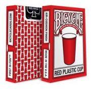 BARALHO BICYCLE  PLASTIC CUP VERMELHO