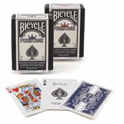 Baralho plastico para poker Bicycle Prestige Plastic Dura- Flex - Azul ou Vermelho B+