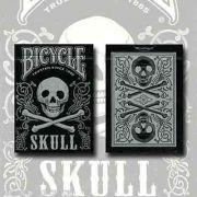 Baralho Bicycle skull edição limitada  cor prata M+