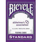 Baralho Bicycle Standard Roxo da Alzheimer's Association b+
