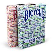 Baralho Bicycle Table Talk azul ou vermelho  B+