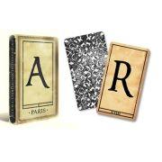 Baralho marcado Alfabeto  1900 - Alphabet cards M+