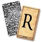 Baralho marcado Alfabeto  1900 - Alphabet cards R+