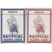 Baralho Nautical Azul ou Vermelho  -  House Of Playing Cards- Baralho da Marinha R+