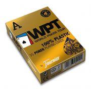 BARALHO WPT GOLD AZUL 100% PLASTICO