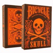 Bicycle skull edição limitada  cor laranja M+