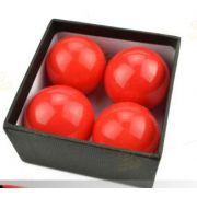 Bolas Excelsior Borracha Vermelha 4,2 cm 4 Bolas + 2 Casquilhas