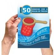 BOLSA DE TROCA VERMELHA COM ZIP + LIVRETO 50 MAGICAS - CHANGE BAG