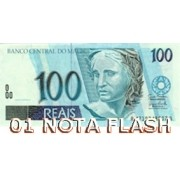 BURNING MONEY  NOTA FLASH 100 REAIS