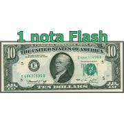 BURNING MONEY - NOTA FLASH 10 Dollares