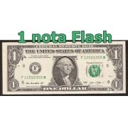 Dez unidades de Burning Money - (Nota Flash) 1 Dólar. F+