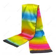 Cachecol arco iris - Black to rainbow scarf streamer B+