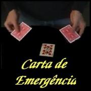 CARTA DE EMERGÊNCIA (DORSO AZUL  E VERMELHO)