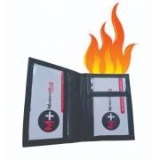 Carteira cartao de visita em chama