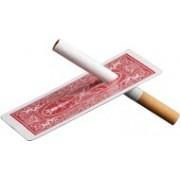 Cigarro na carta bicycle vermelho