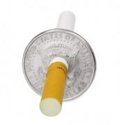 Cigarro na Moeda Halff Dolar D+