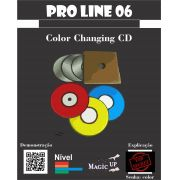 Color Changing Cd - Discos mudam de cores - Coleção Magica Profissional n 06 - Magic Proline B+