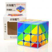 Cubo Mágico Profissional Rainbow Inequilateral  Moyu 3x3x3 B+