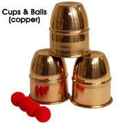Cups & Balls Copper brass - covilhetes americanos em latão marca VDF