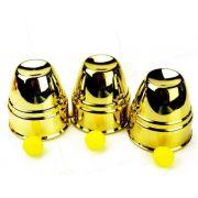 Cuvilhetes americanos grande  - Cups and Balls Plastico Dourado - Jumbo b+