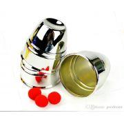Cuvilhetes Cups And Balls Plastico Cromado - Jumbo B+