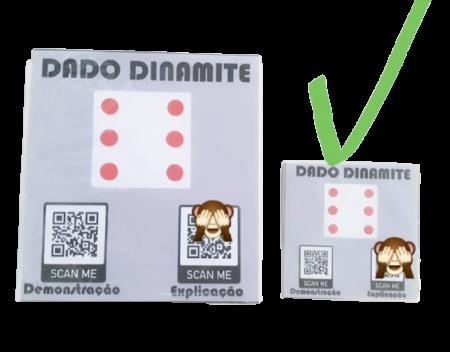 Dado dinamite, dado da ilusao pequeno para  close up 12 cm B+