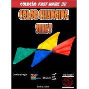 Double Color Changing Silks ? Lenço Muda de Cor Coleção Fast Magic N 30 R+