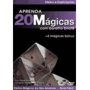 Dvd - 20 Mágicas Com Baralho Bisotê R+