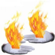 Fire gloves branco - luvas fogo Tamanho P, M  B+