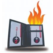Flaming business card wallet - Carteira de cartao de visita em chama