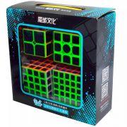 Kit Cubo Magico Carbono Moyu Mei Long 2x2 3x3 4x4 5x5 B+ D