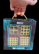 Set Cubo Magico Carbono Moyu Mei Long 2x2 3x3 4x4 5x5 B+ D