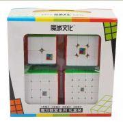 Kit Cubo Magico Moyu 4 peças- 2x2 3x3 4x4 5x5 B+