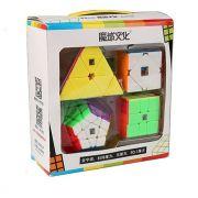 Kit Cubo Magico Moyu 4 peças - Megaminx, Pyraminx, Square 1, Skewb R+ D