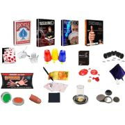 Kit de magicas o Profissional Luxo - 20 acessórios - a partir de 12 anos -   Case de Couro R+