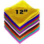 Lenço de Seda pura  30cm, (12 inch)  - selecione sua cor! R+