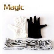 LUVAS EM STREAMER ZEBRA - BLACK AND WHITE GLOVES TO ZEBRA STREAMER
