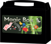 Kit de magicas Magic Box 1 - a partir de 6 anos - com moeda houdini  (mod 2)  B+