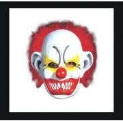 Máscara Palhaço careca com cabelo  - 100% Látex (Spook). F+