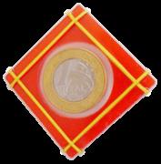 Moeda Houdini - Coleção Fast Magic Nº 04 Cristal Coin Case